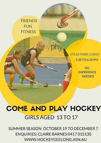 Come and Play Hockey Girls small